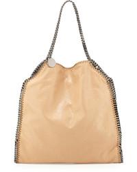 Stella McCartney Falabella Large Faux Leather Tote Bag Tan