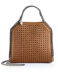 Stella McCartney Falabella Mini Baby Bella Woven Faux Leather Tote