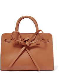 Mansur Gavriel Sun Mini Mini Leather Tote Camel