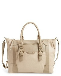 Sole Society Susan Winged Faux Leather Tote Brown