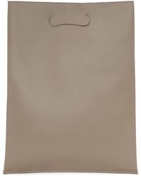 Maison Margiela Taupe Large Shopper Tote Bag