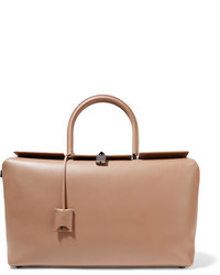 Tom Ford India Large Leather Tote Beige