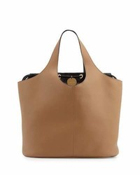 Tom Ford Miranda Medium Tote Bag With Pouch Tan