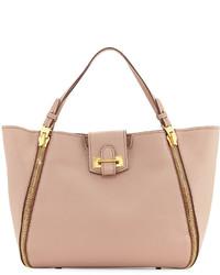 Tom Ford Sedgewick Medium Leather Zip Trim Tote Bag Blush