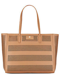 Vince Camuto Diamond Perforated Leather Tote