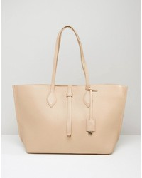 Whistles Regent Leather Tote Bag In Nude
