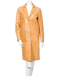 Leather coat medium 115582
