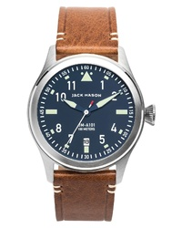 Jack Mason Aviation Leather Watch