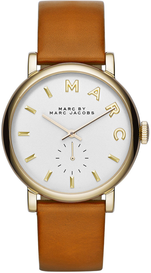 Marc by Marc Jacobs Baker Analog Watch With Leather Strap Stainlesstan