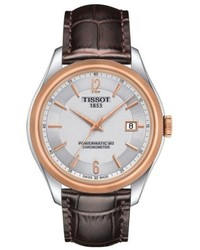 Tissot Ballade Powermatic 80 Chronometer Leather Strap Watch 39mm