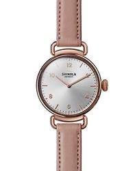 Shinola Canfield Leather Watch