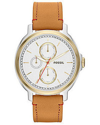 Fossil Chelsey Tan Leather Strap Watch