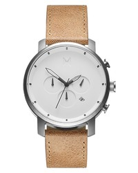 MVMT Chronograph Leather Watch