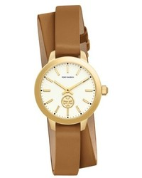 Collins double wrap leather strap watch 32mm medium 5309010