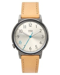 Canton and Hall Davis Slim Leather Strap Watch