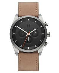 MVMT Elet Chronograph Leather Watch