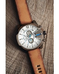 64ae6bf11 Diesel Mega Chief Leather Strap Watch 51mm, $225 | Nordstrom ...