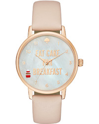 Kate Spade New York Metro Tan Leather Strap Watch 34mm 1yru0892