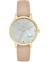 Kate Spade New York Tan Vachetta Leather Strap Watch 34mm Ksw1015