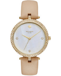 Kate Spade New York Tan Vachetta Leather Strap Watch 35mm Ksw1013