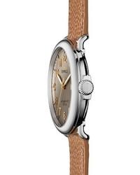 Shinola Runwell Leather Strap Watch 47mm