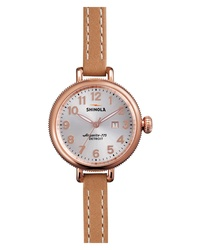 Shinola The Birdy Leather Watch