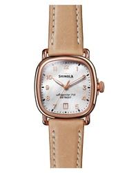 Shinola The Guardian Leather Watch