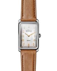 Shinola The Muldowney Rectangular Leather Watch