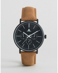 Asos Watch With Distressed Leather Strap
