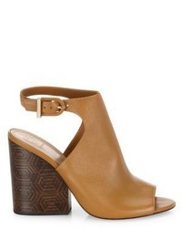 e35785df2 ... Tory Burch Grove Open Toe Leather Wedge Booties ...