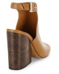 4bacb7098 ... Tory Burch Grove Open Toe Leather Wedge Booties