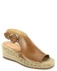 Rag & Bone Calla Leather Espadrille Platform Wedge Sandals
