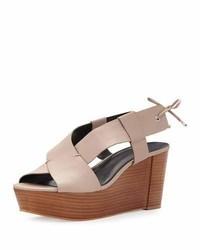 Rebecca Minkoff Calla Wedge Platform Sandal Nude
