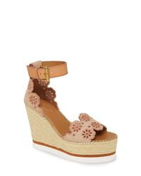 See by Chloe Glen Espadrille Platform Wedge Sandal
