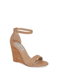 6b1053a0b836 Women s Tan Leather Wedge Sandals by Steve Madden