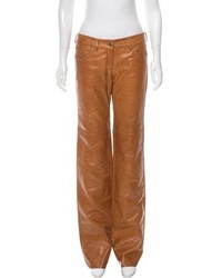 CNC Costume National Costume National Mid Rise Leather Pants