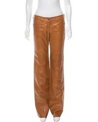 Costume national mid rise leather pants medium 5374871