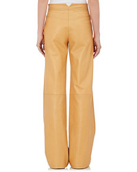 Derek Lam Leather Wide Leg Trousers