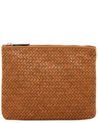 Cole Haan Woven Medium Leather Pouch