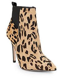 Gigi leopard print calf hair ankle boots medium 17908
