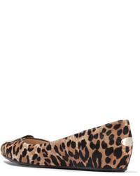3a0bb83936a2 ... Jimmy Choo Wray Leopard Print Calf Hair Ballet Flats Leopard Print ...