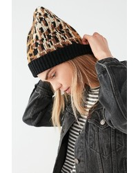 Graphic leopard intarsia beanie medium 6870170