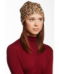 David & Young Leopard Print Beanie