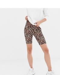 Asos Tall Asos Design Tall Legging Short In Leopard Print