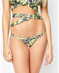 Tan Leopard Bikini Pant