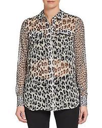 French connection simba chiffon blouse medium 82023