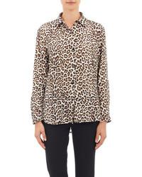 Leopard print shirt medium 82024