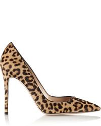 100 leopard print calf hair pumps leopard print medium 411679
