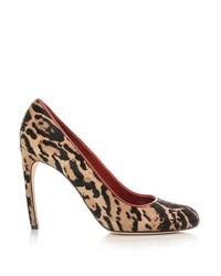 Alexander McQueen Leopard Print Calf Hair Pumps