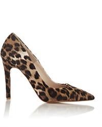 Barneys New York Leopard Calf Hair Viola Pumps